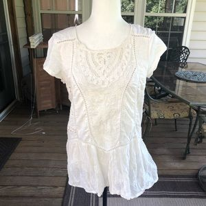 Anthropologie cream top